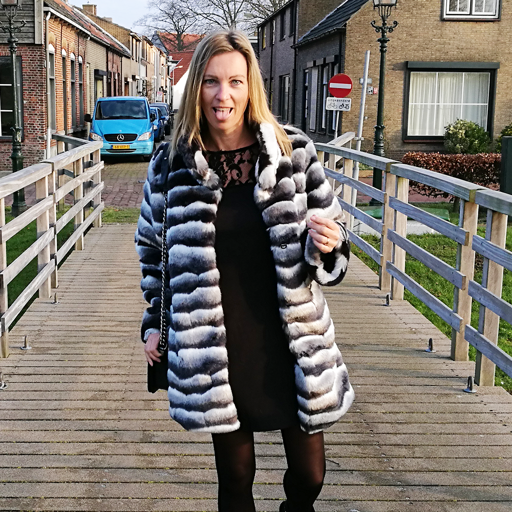 Faux Fur Zebra Coat 07